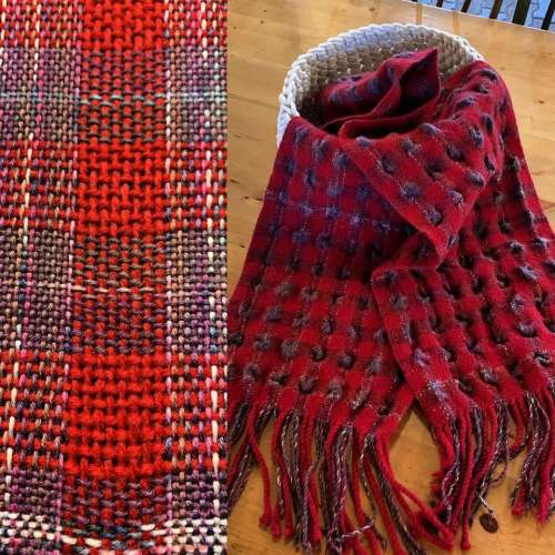 Weave a Windowpane/Bubble Scarf